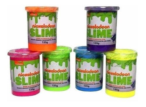 Kit Slime Com 6 Unidades Original Nickelodeon - Geleca