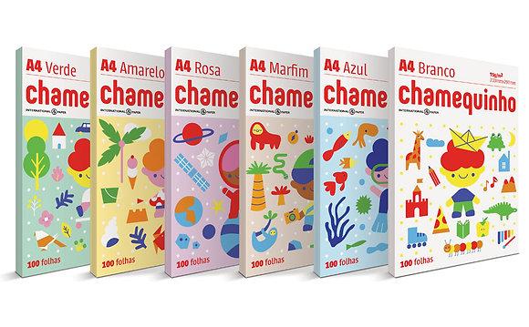 Chamequinho A4 100 Folhas Colorido - Kit C/ 5un