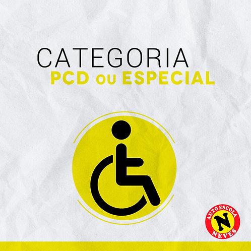 Matrícula Habilitação Categoria PCD ou Especial