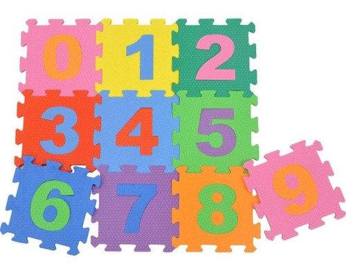 Tapete Para Criança Com Números 29x29cm Cada Peça