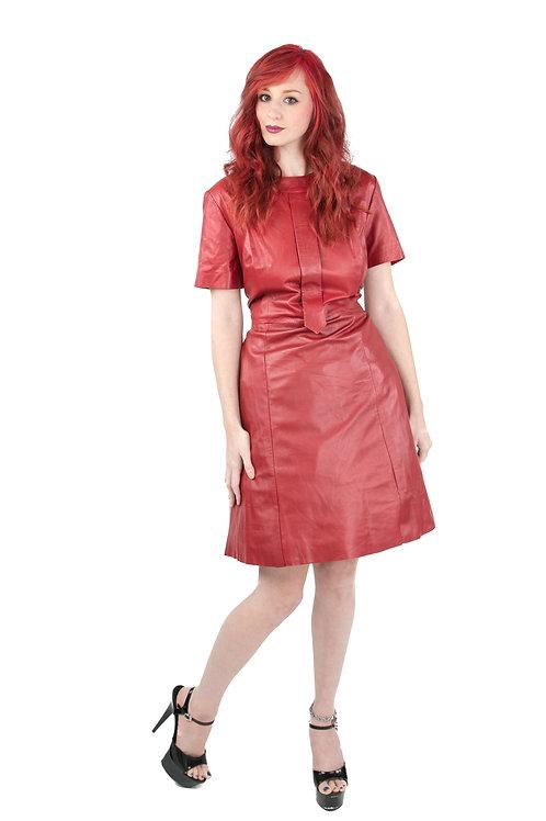 Short Sleeve Dress with Accent Neckline & Tie