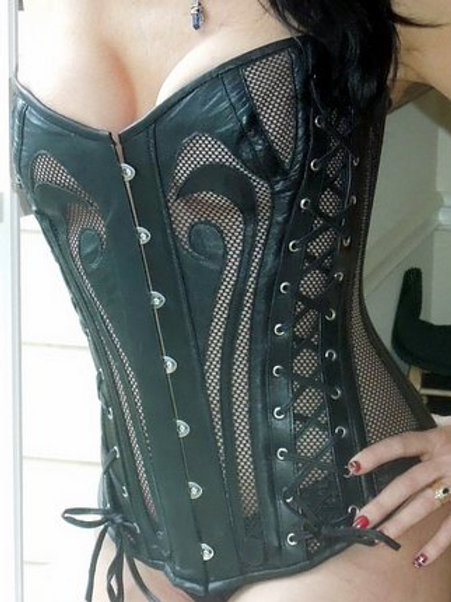 Leather and Lace Overbust