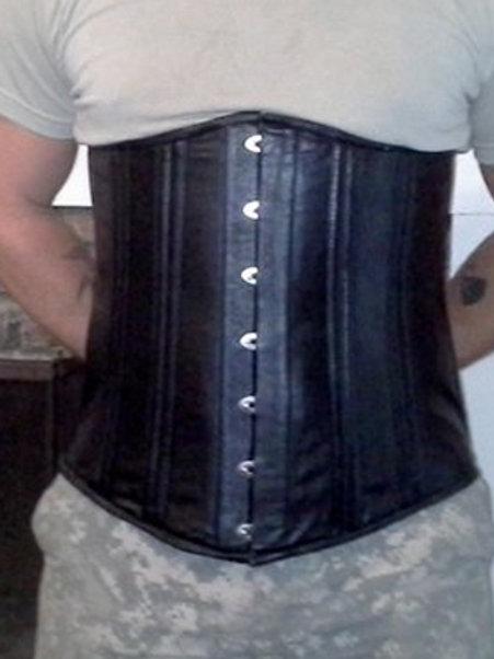 Men's Leather Underbust Corset