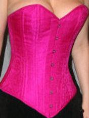 Pink Silk Overbust