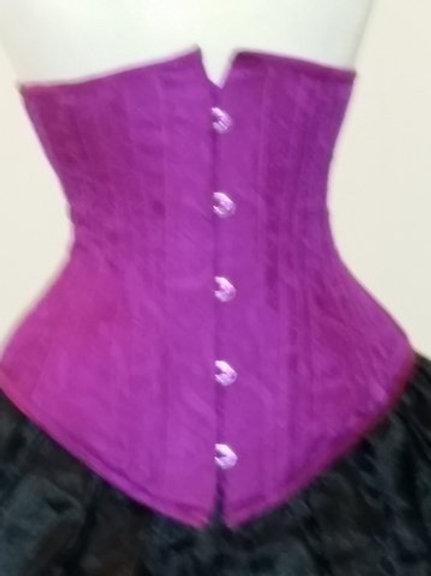 Purple Silk Underbust Corset