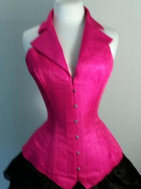 Pink Silk Corsevest