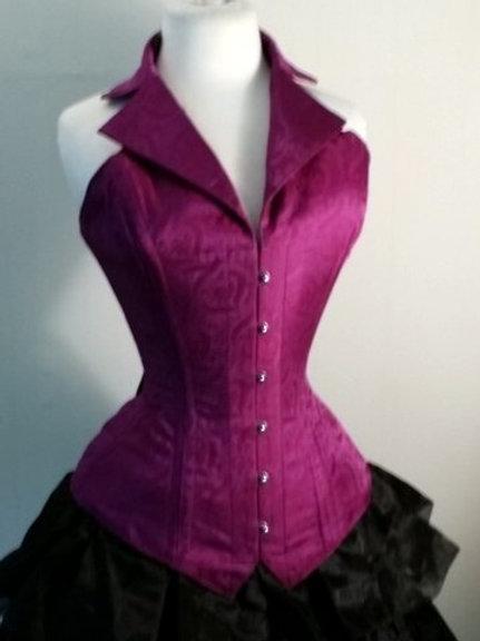Purple Silk Corsevest