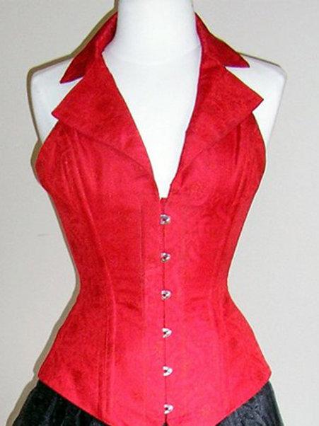 Red Silk Corsevest
