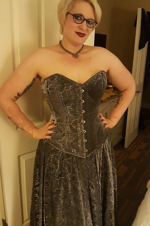 Silver Sparkles Corset & Skirt Set