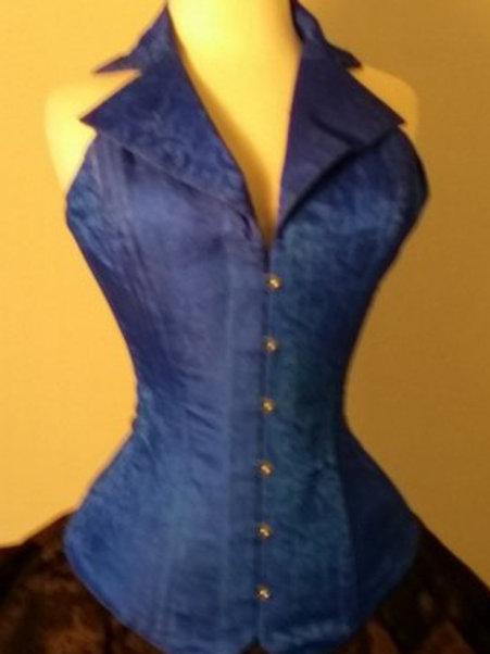 Blue Silk Corsevest