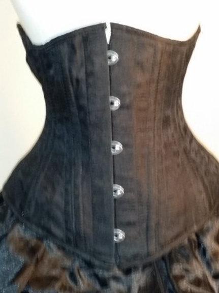 Black Silk Underbust Corset