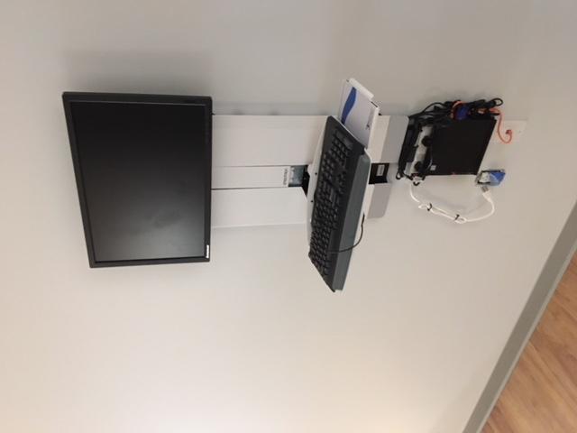Sit Stand Monitor Keyboard