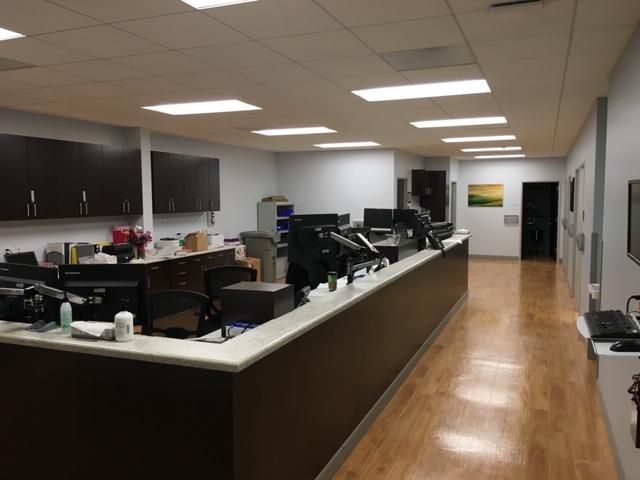 Reception Area Dual Monitor Mounts