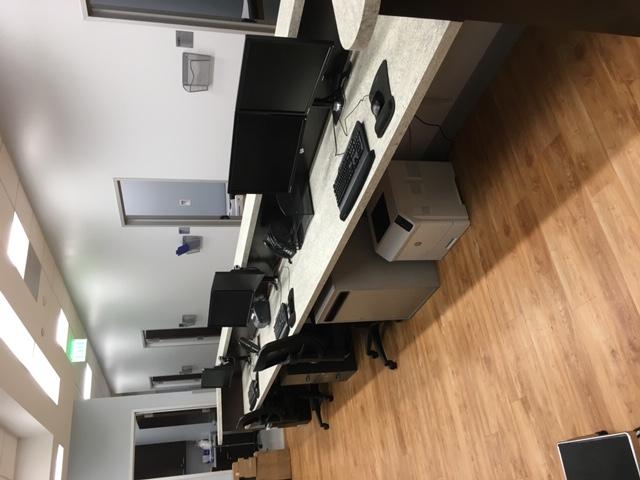 Dual Monitor Reception Desk Mount