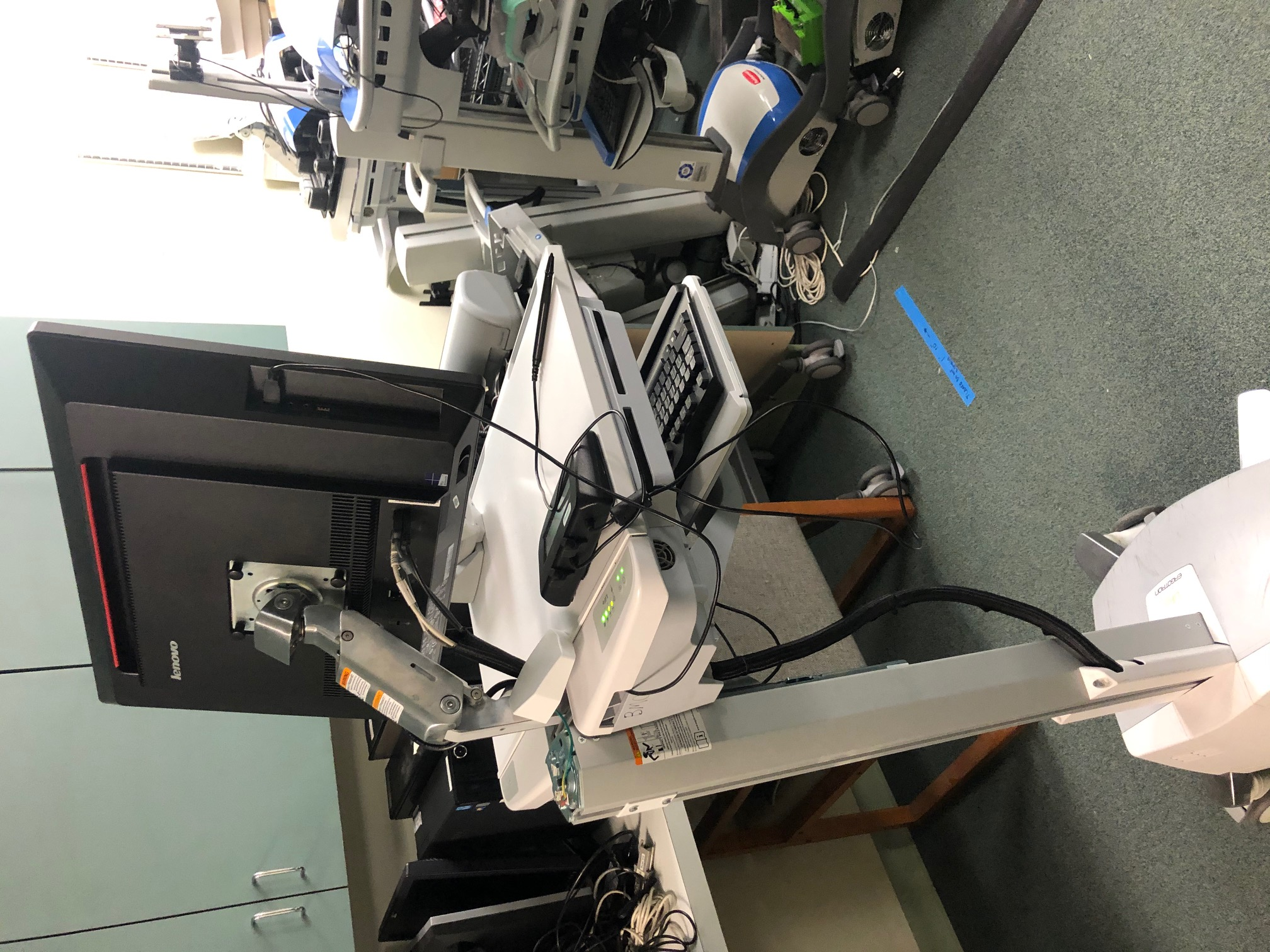 Articulating Arm on Cart Side View