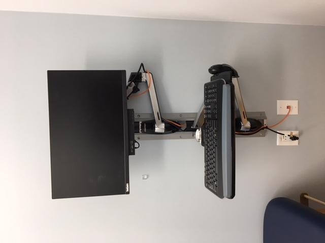 Single Monitor Wall Mount w Keyboard