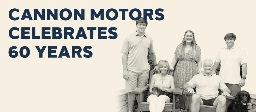 CANNON MOTORS CELEBRATES 60 YEARS