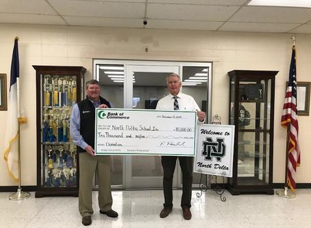 Bank of Commerce Donates $10,000 to North Delta School, Inc.