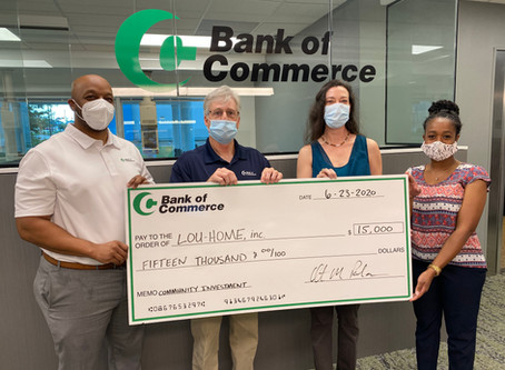 Bank of Commerce Partners with LOU-HOME, Inc., via FHLB Partnership Grant