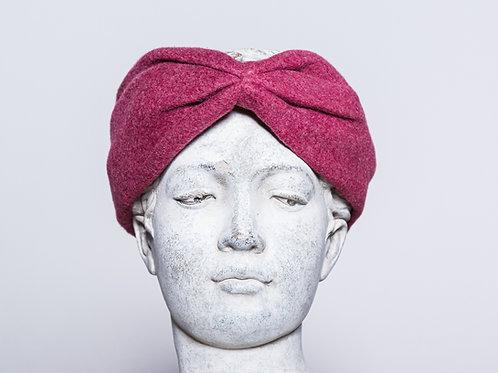 Hair band organic cotton, dark pink