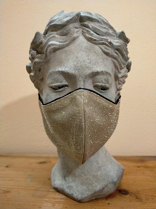 Maske Gold, glitzernd