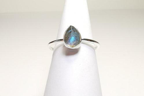 Ring Labradorit Silber