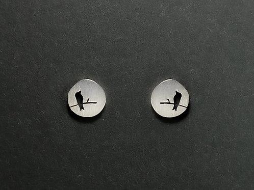 Ohrstecker ein Vogel Klein