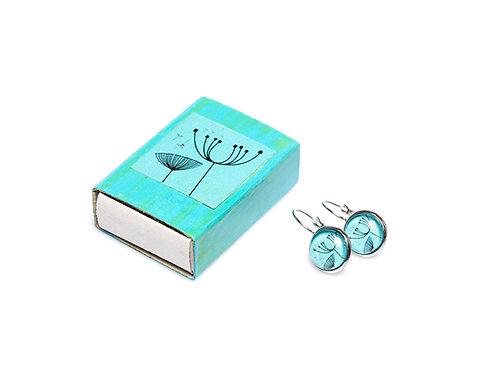 Earrings Dandelion Turquoise