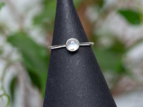 Ring Mondstein Silber