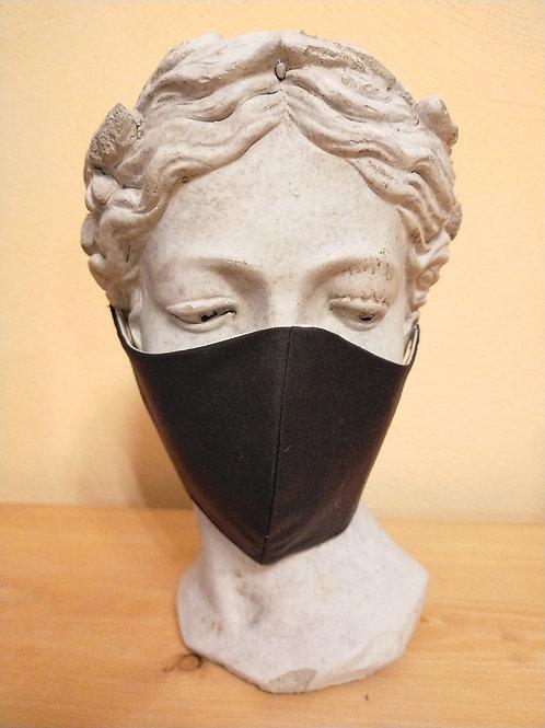 Maske Schwarz, größenverstellbar