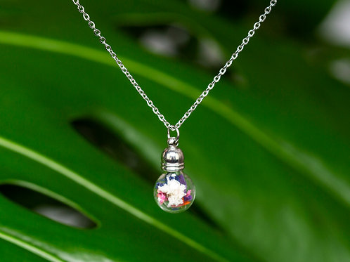 """""""Flowers - Mix"""", silver, small ball"""