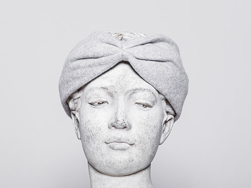 Hair band organic cotton, light gray