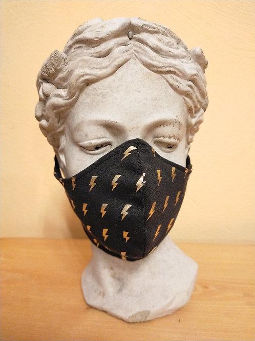 Maske Blitze, gold