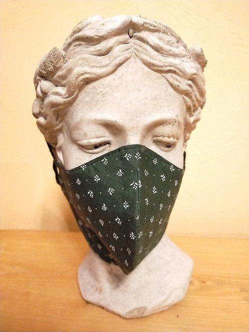 Maske Blümchen, grün