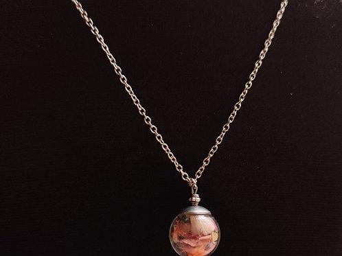 Flower necklace unique number 95