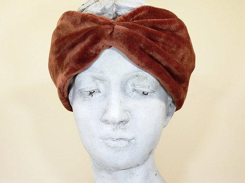 Velvet headband, copper