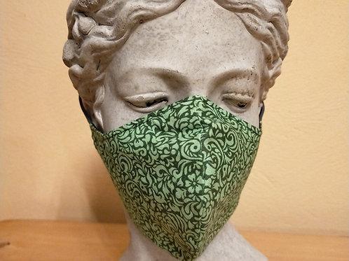 Mascarilla con Patrón Verde