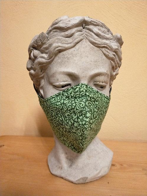 Maske grünes Muster