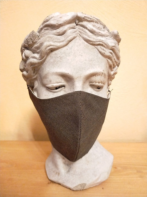 Maske Grau, größenverstellbar