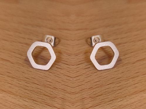 Pendientes Hexagonales, tamaño mediano