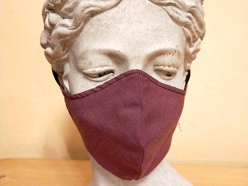 Bordeaux red mask, monochrome