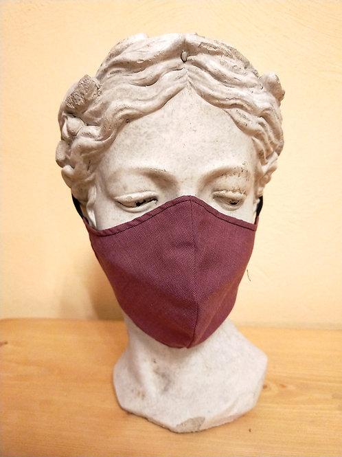 Maske Bordeauxrot, einfarbig