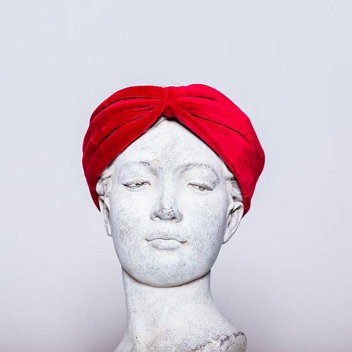 Haarband Samt, Rot