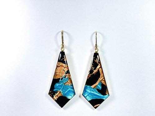 HKDM tie earrings - unique