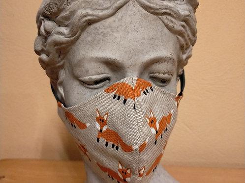 Fox mask, gray
