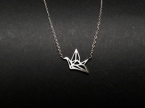 Halskette Origami Vogel