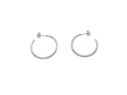 30mm silver hoop earrings