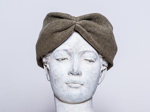 Haarband Bio Baumwolle, Grüngrau