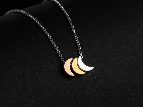 Halskette dreifarbige Monde