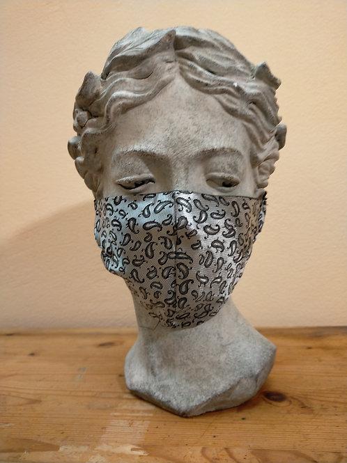Maske Silber, glitzernd